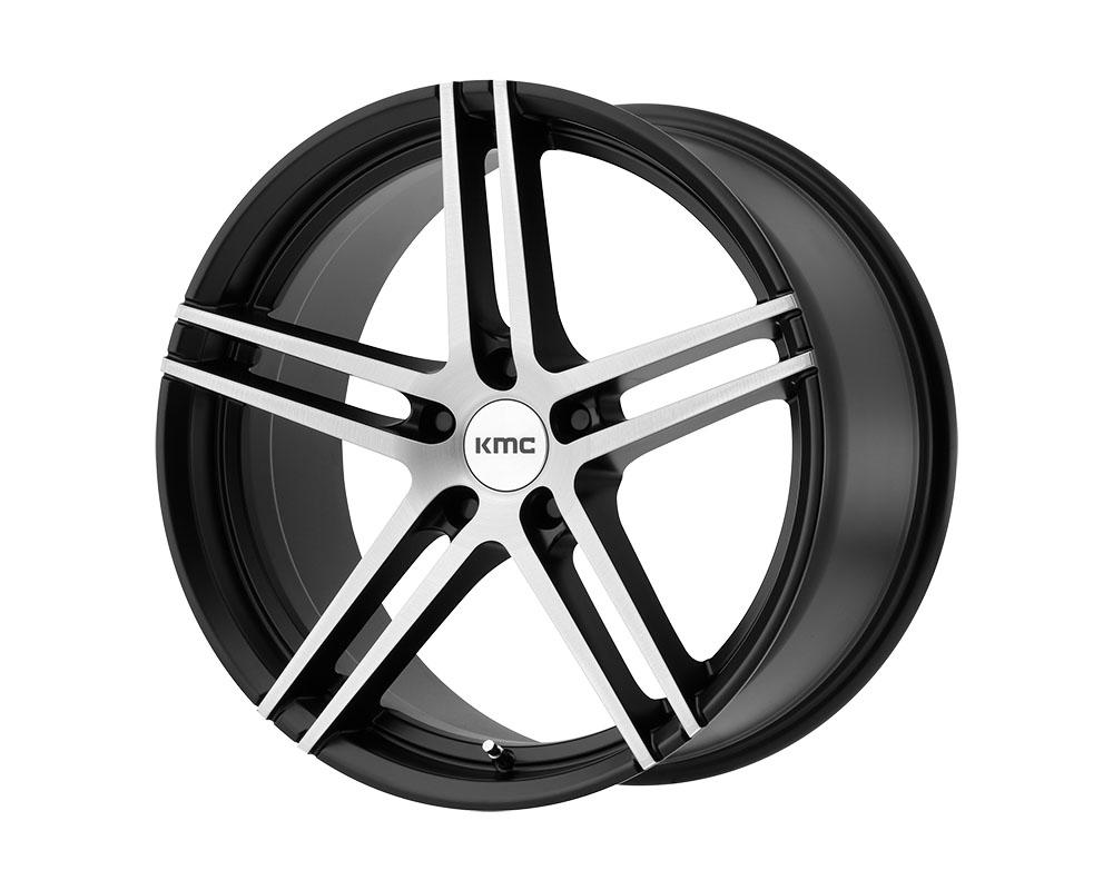 KMC KM703 Monophonic Wheel 19x9.5 5x5x112 +35mm Satin Black Brushed