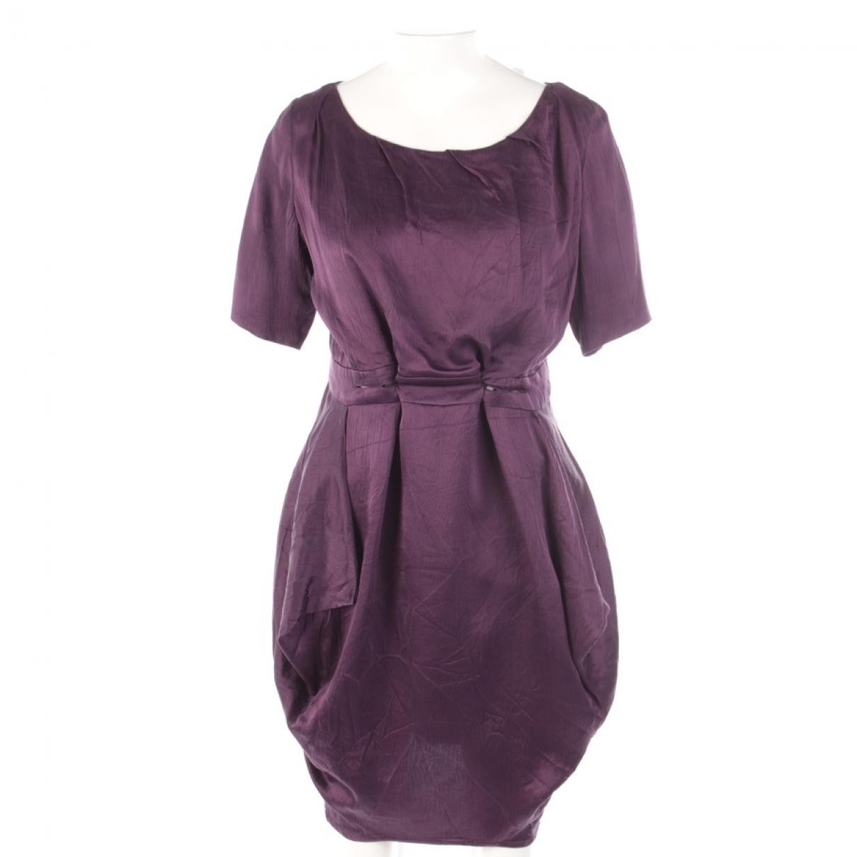 Acne Studios \N Purple Silk dress for Women 34 FR