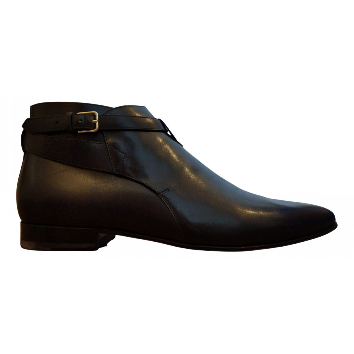 Saint Laurent \N Black Leather Boots for Men 44.5 EU