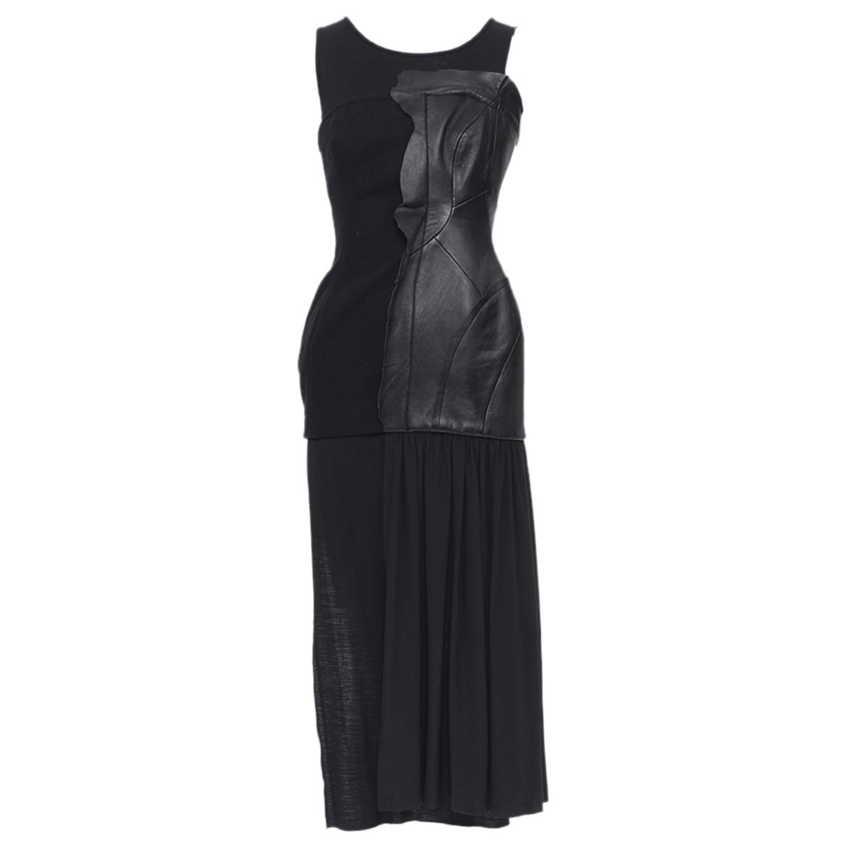 Yohji Yamamoto \N Kleid in  Schwarz Leder