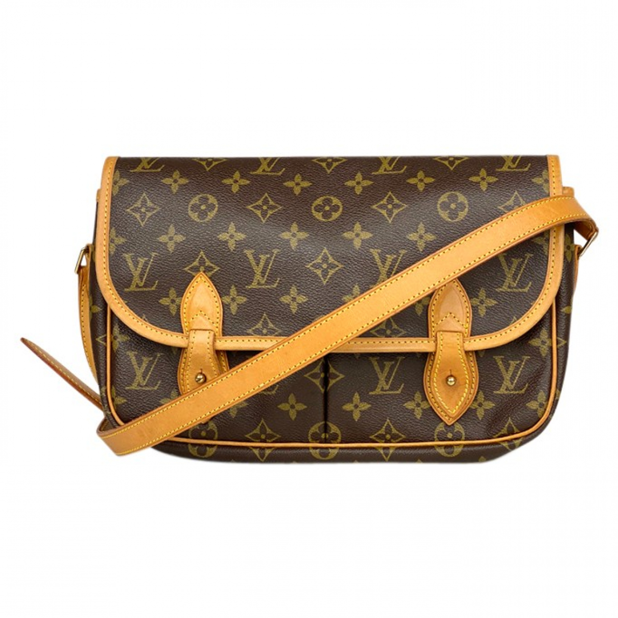 Louis Vuitton Gibeciere Brown Cloth handbag for Women \N