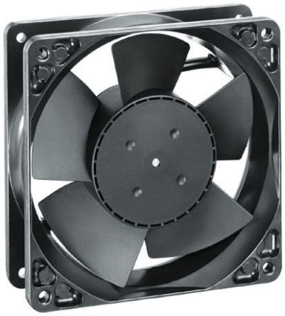 ebm-papst , 12 V dc, DC Axial Fan, 119 x 119 x 38mm, 160m³/h, 3.7W