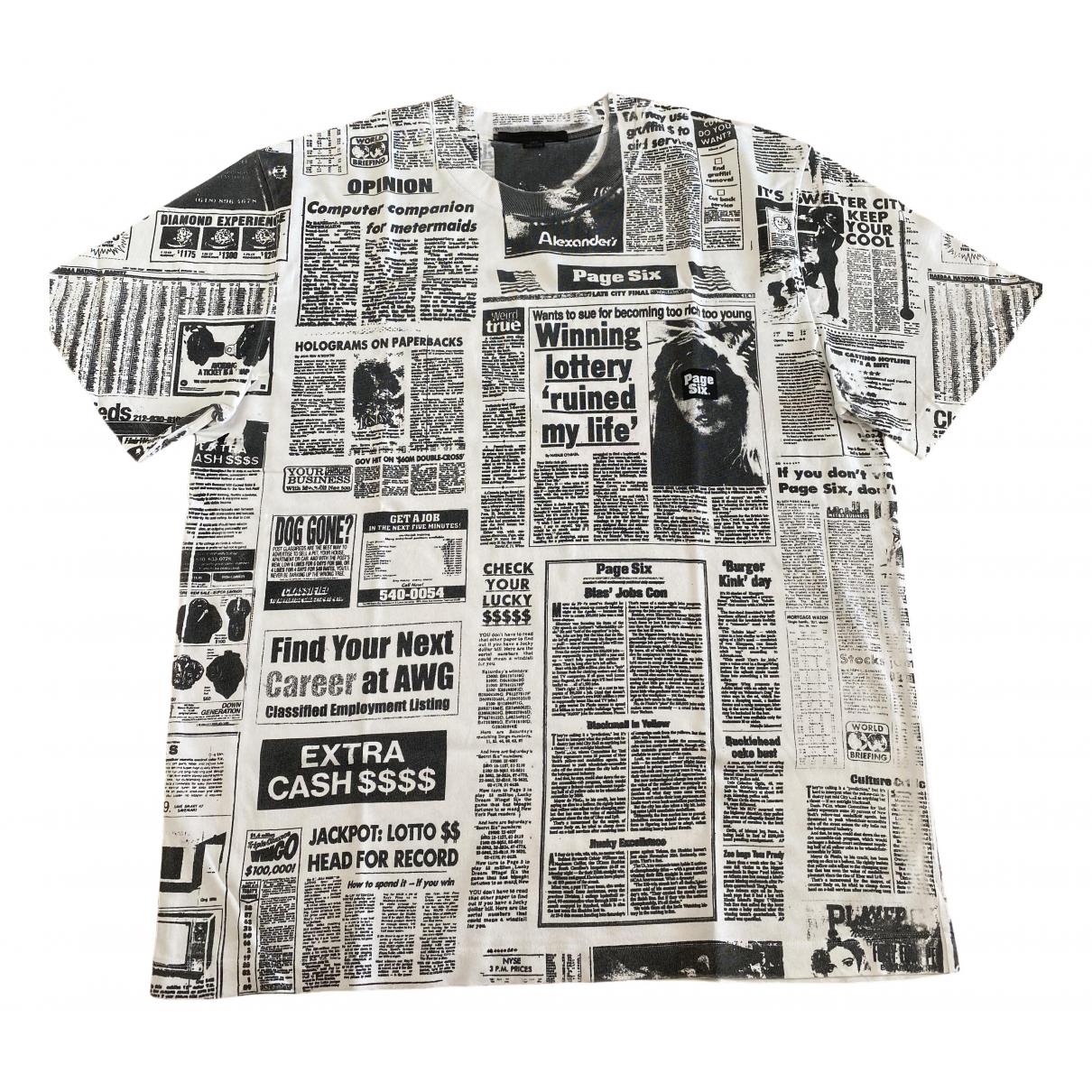 Alexander Wang \N White Cotton T-shirts for Men M International