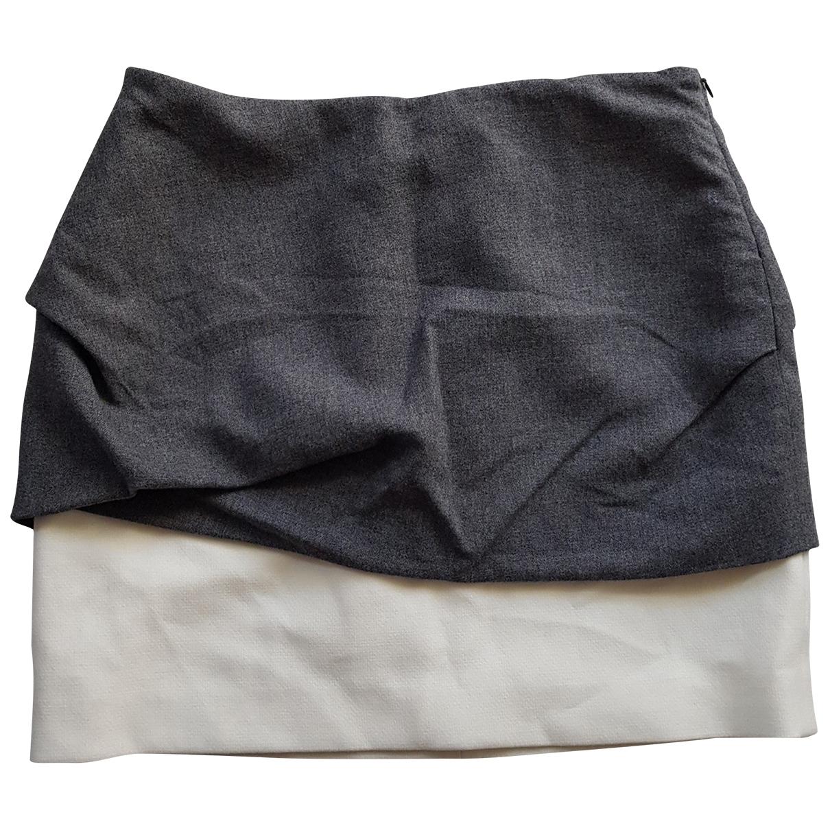 Maje - Jupe   pour femme en laine - gris