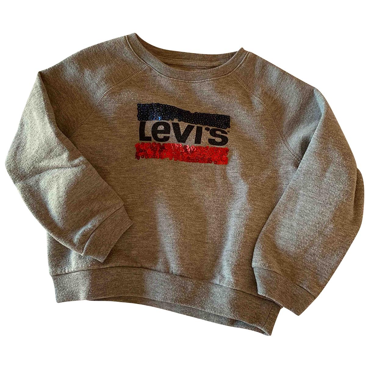 Levis - Pull   pour enfant en coton - gris