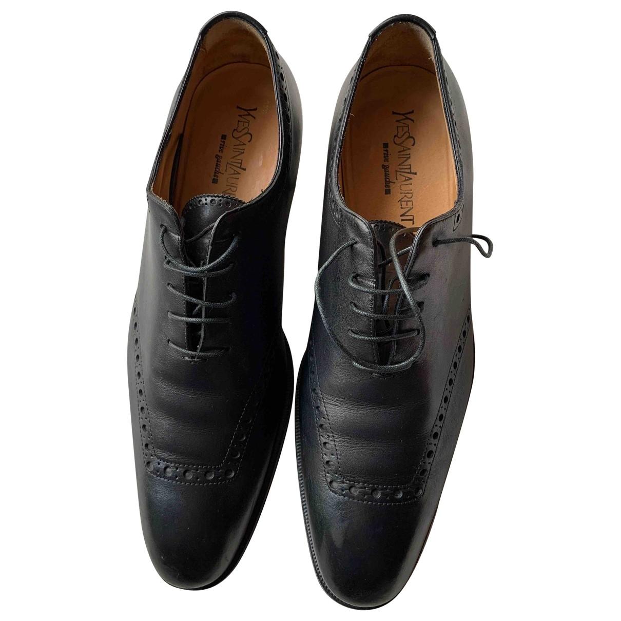 Yves Saint Laurent - Derbies   pour homme en cuir - noir