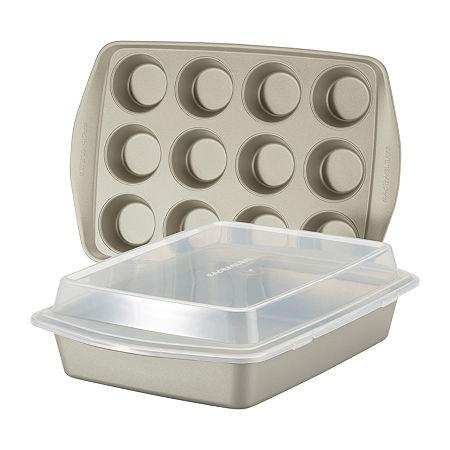 Rachael Ray 3-pc. Non-Stick Bakeware Set, One Size , Silver