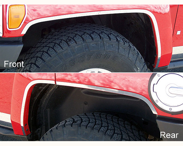 Quality Automotive Accessories 6-Piece Stainless Steel Wheel Well Trim with Adhesive Backing Hummer H3 | H3T 2007