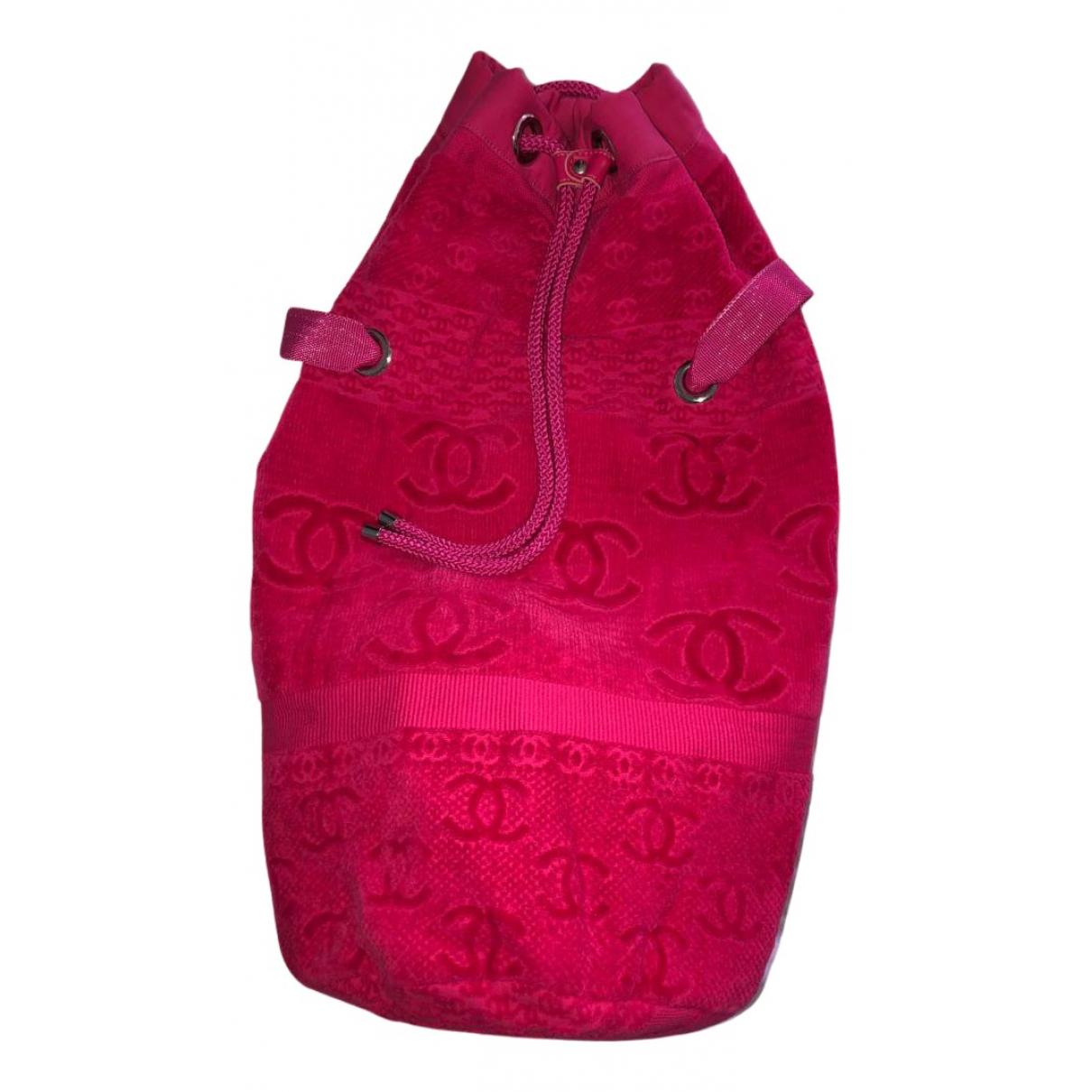 Chanel N Pink Cotton handbag for Women N