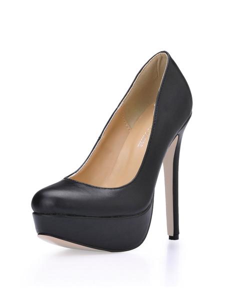 Milanoo Woman's Platform Pumps Stilettto High Heel Dress Shoes