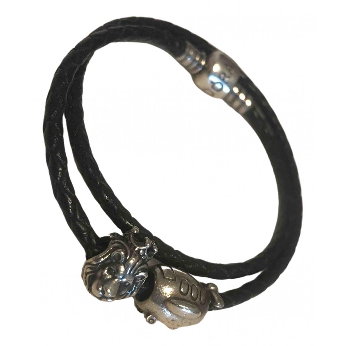 Pandora - Bracelet   pour femme en argent - noir