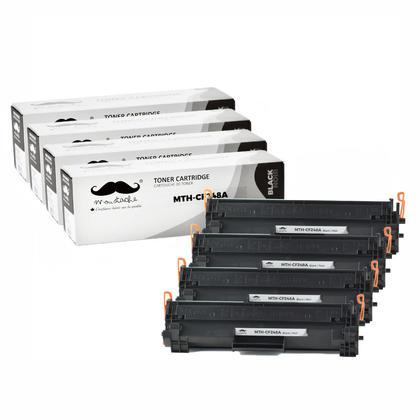 Compatible HP 48A CF248A cartouche de toner noire - Moustache - 4/paquet