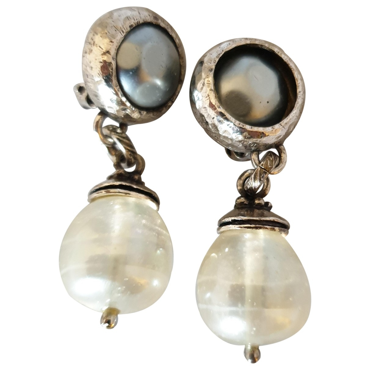 Yves Saint Laurent \N Anthracite Metal Earrings for Women \N