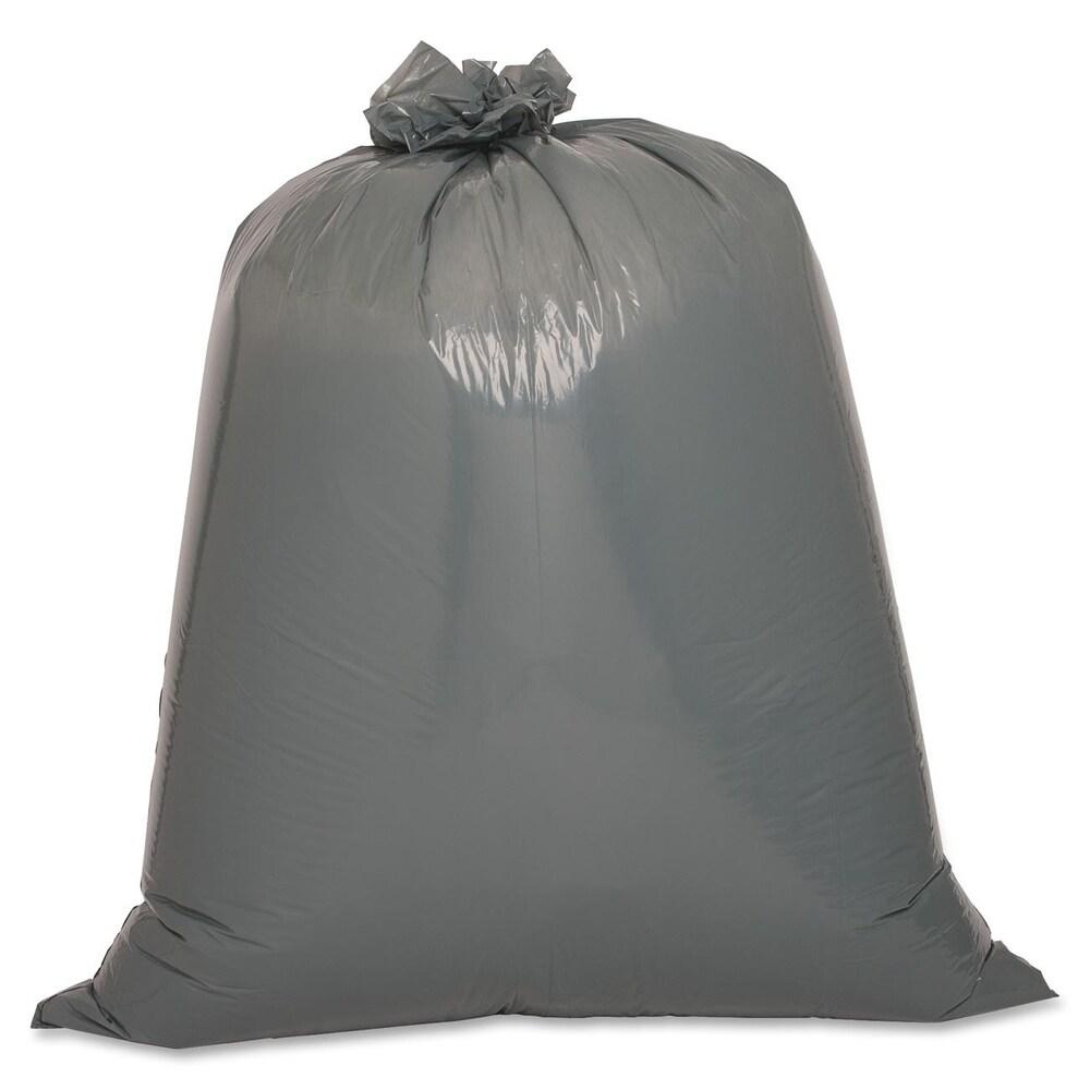 Genuine Joe Maximum Strength Silver Trash Can Liner (Box of 50) (Master)