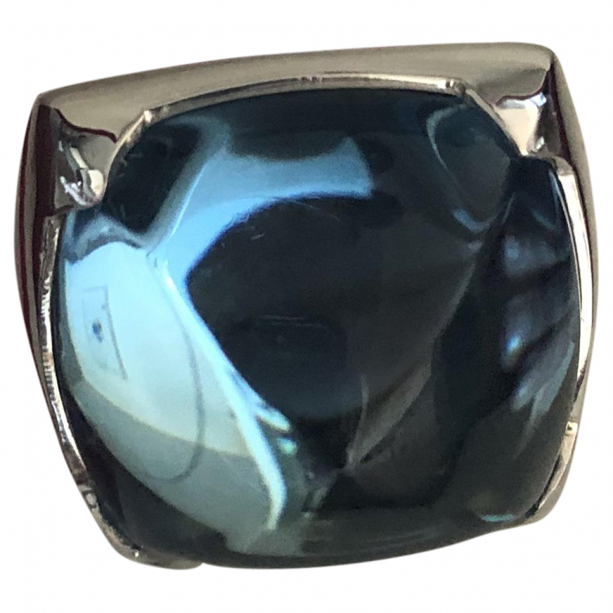 Baccarat N Blue Silver ring for Women 55 MM