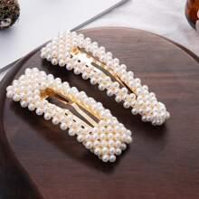 1 pieza horquilla con perla artificial al azar