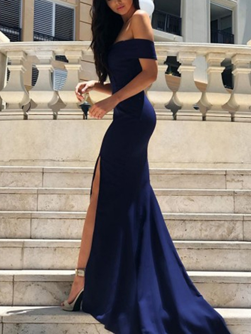 Ericdress Short Sleeves Off-The-Shoulder Mermaid Evening Dress