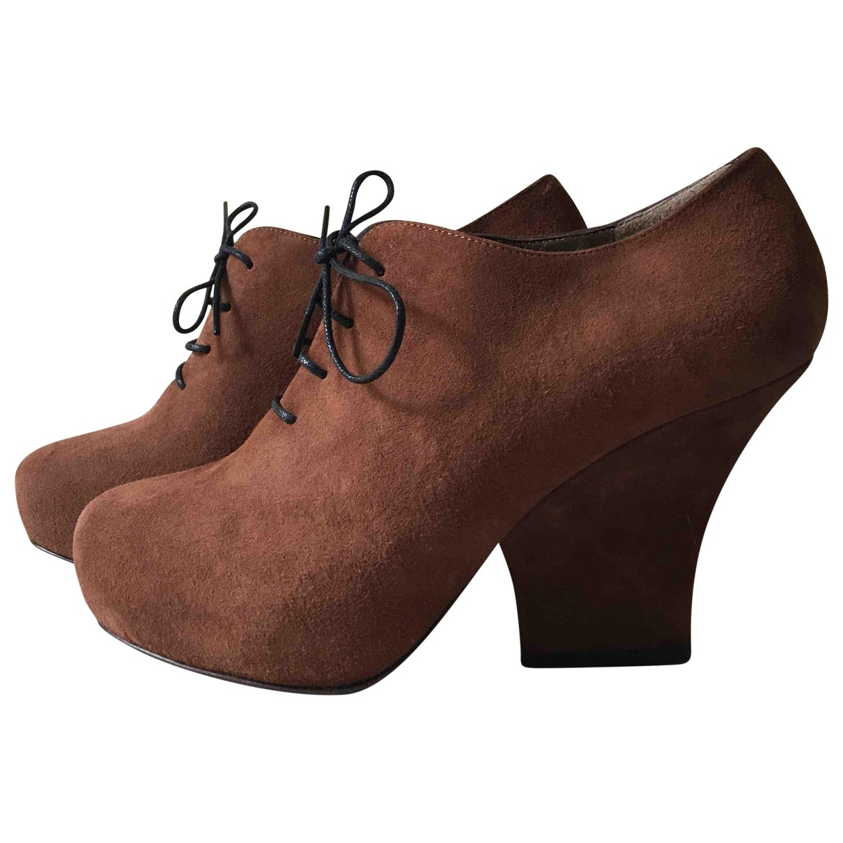 Marni \N Brown Suede Heels for Women 36 EU