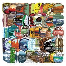 50pcs Wilderness & Letter Graphic Sticker
