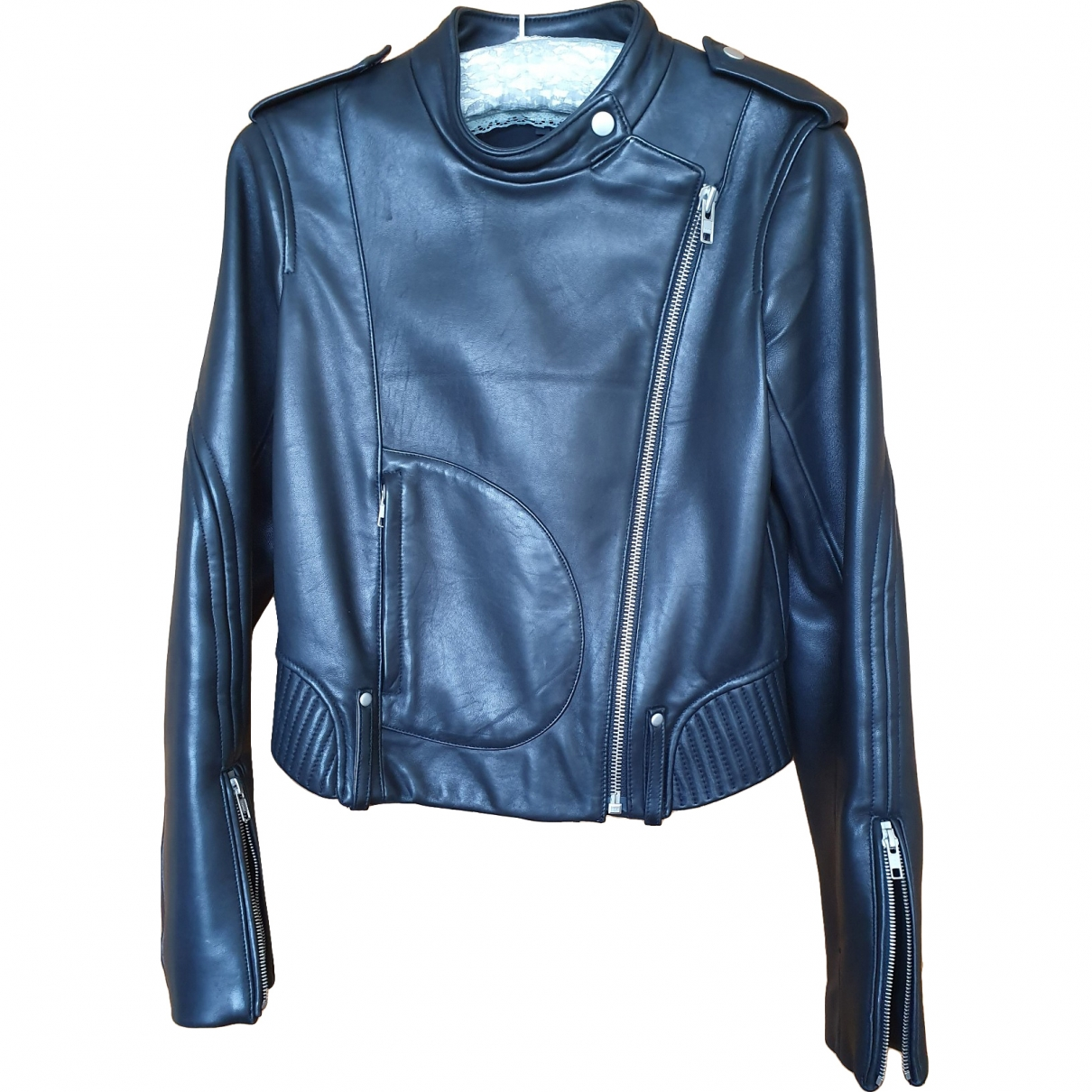 Theory \N Black Leather Leather jacket for Women 4 US