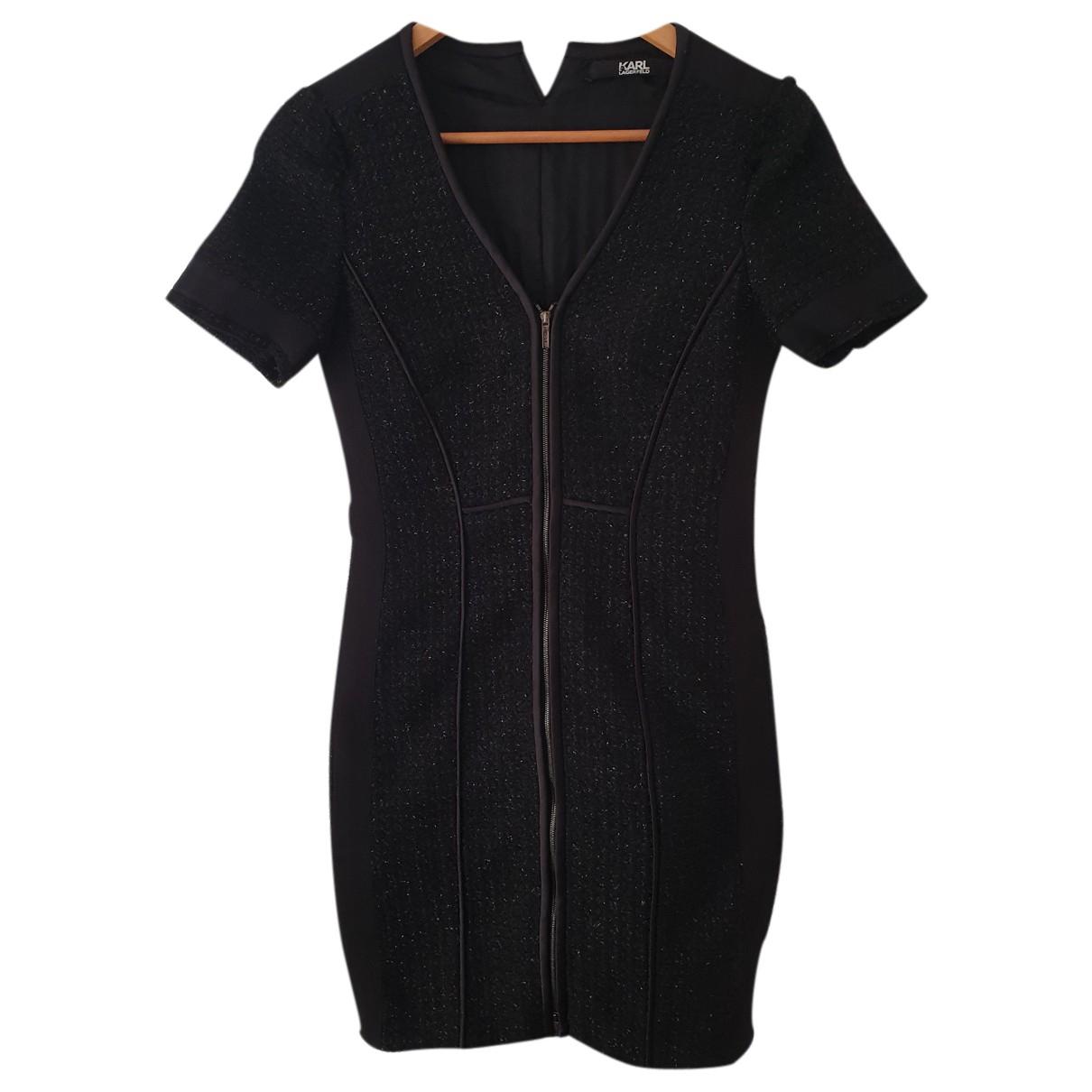 Karl Lagerfeld \N Kleid in  Schwarz Mit Pailletten