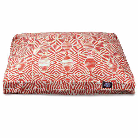 Majestic Pet Charlie Rectangle Pet Bed, One Size , Orange