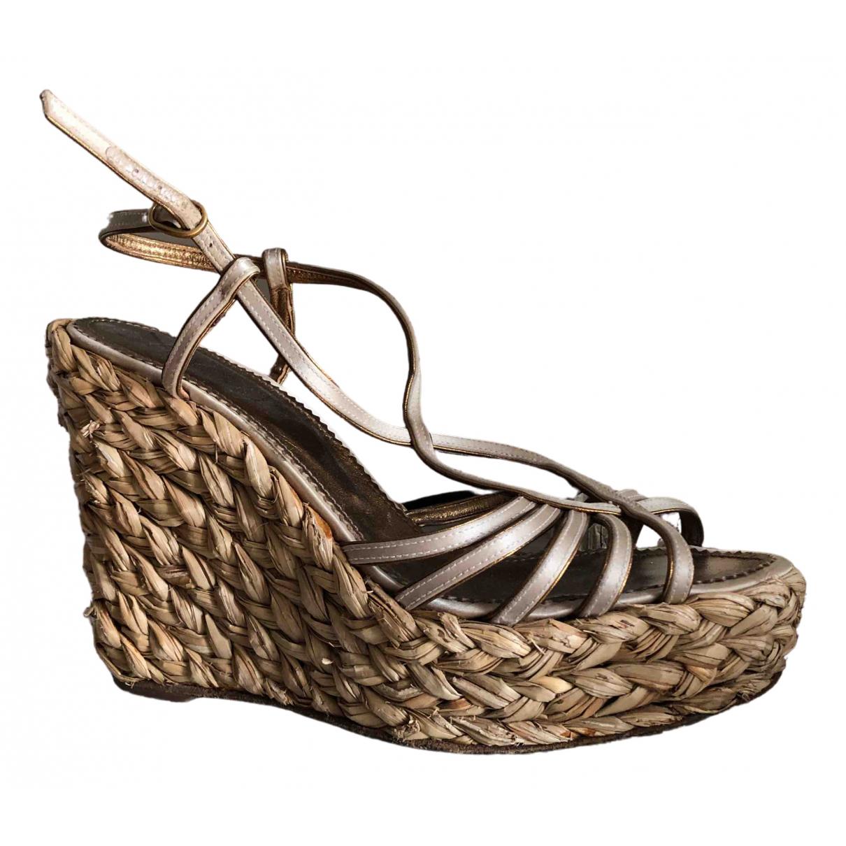 Sandalias romanas de Lona Yves Saint Laurent