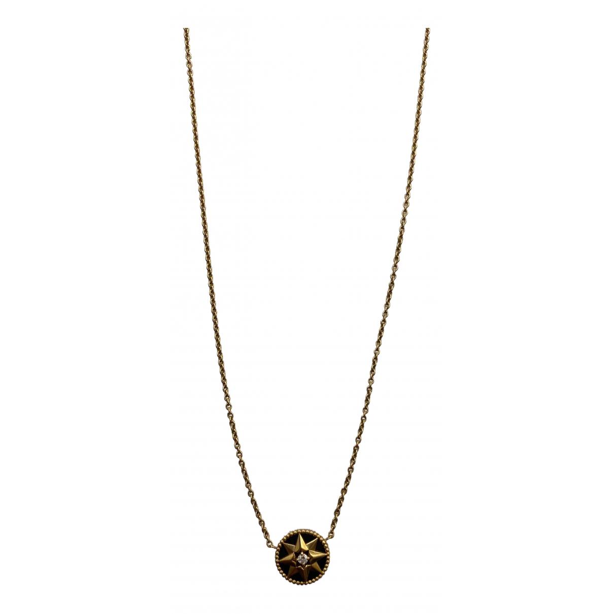 Dior Rose des vents Black Pink gold necklace for Women N