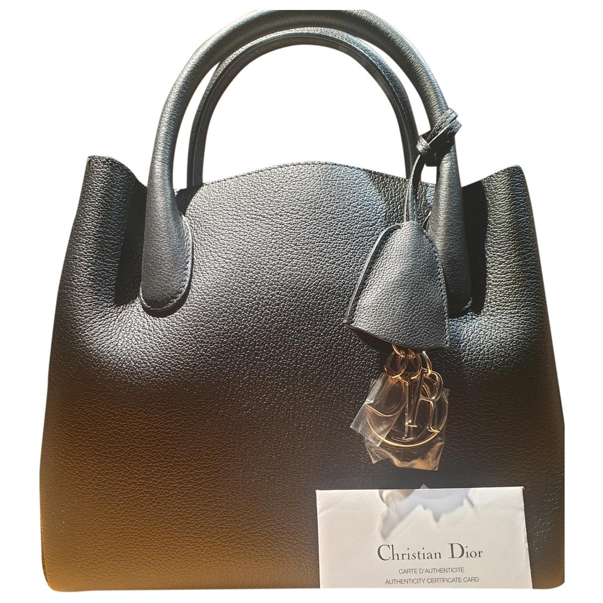 Christian Dior - Sac a main   pour femme en cuir - noir