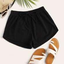 Shorts bikini con cordon delantero