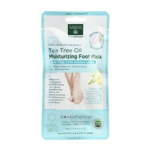 Tea Tree Oil Moisturizing Foot Mask 1 Unit by Earth Therapeutics