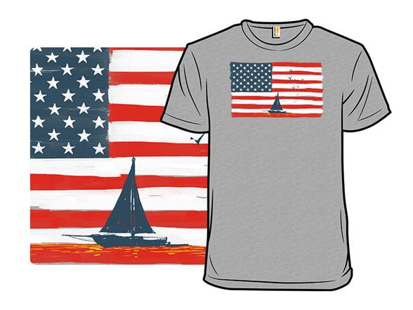 American Sunset Remix T Shirt