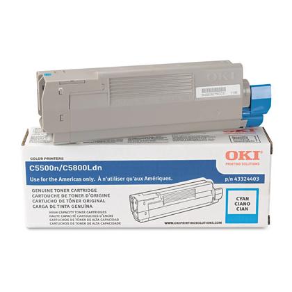 Okidata 43324403 type C8 cartouche de toner originale cyan haute capacité