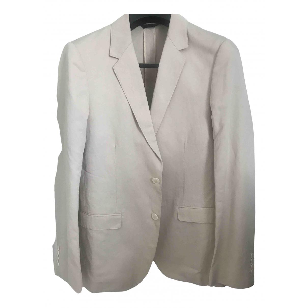 Calvin Klein Collection N Ecru Cotton jacket  for Men 48 IT