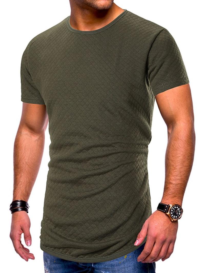 Ericdress Casual Round Neck Plain Slim Mens Short Sleeve T-shirt