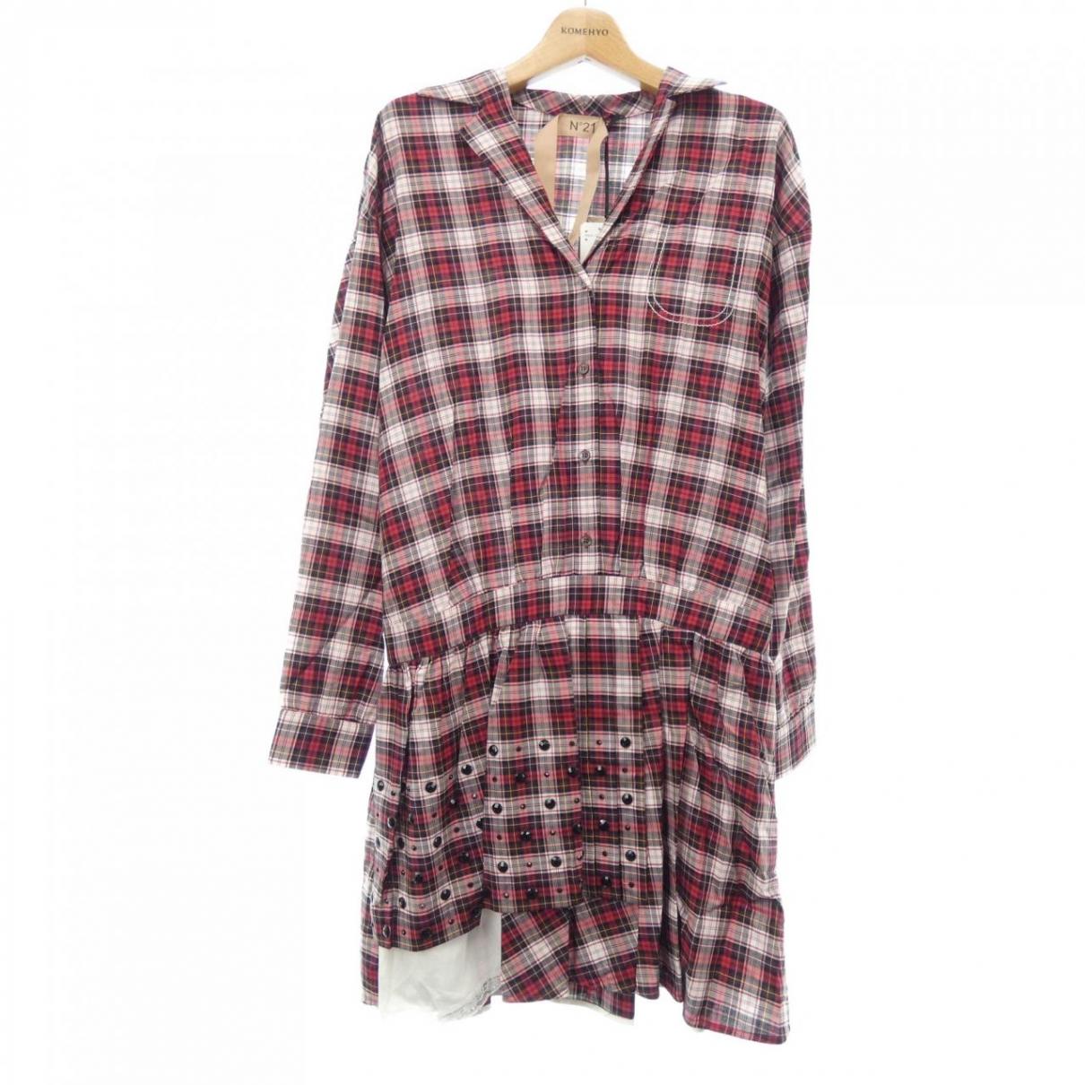 N°21 \N Kleid in  Rot Baumwolle