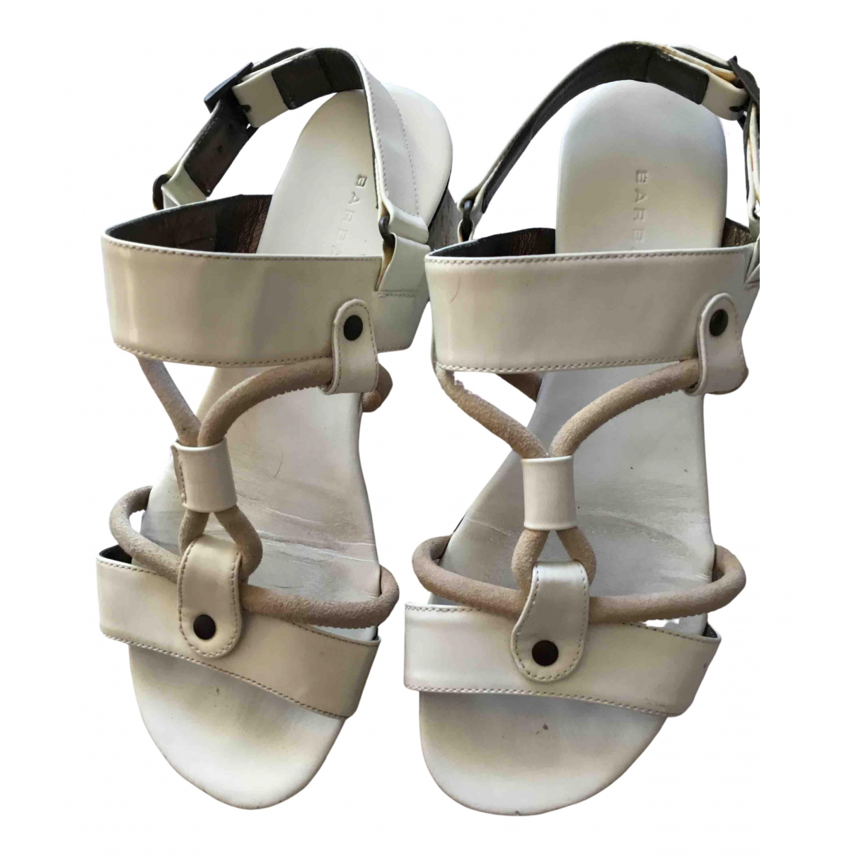 Barbara Bui N White Patent leather Sandals for Women 36 EU