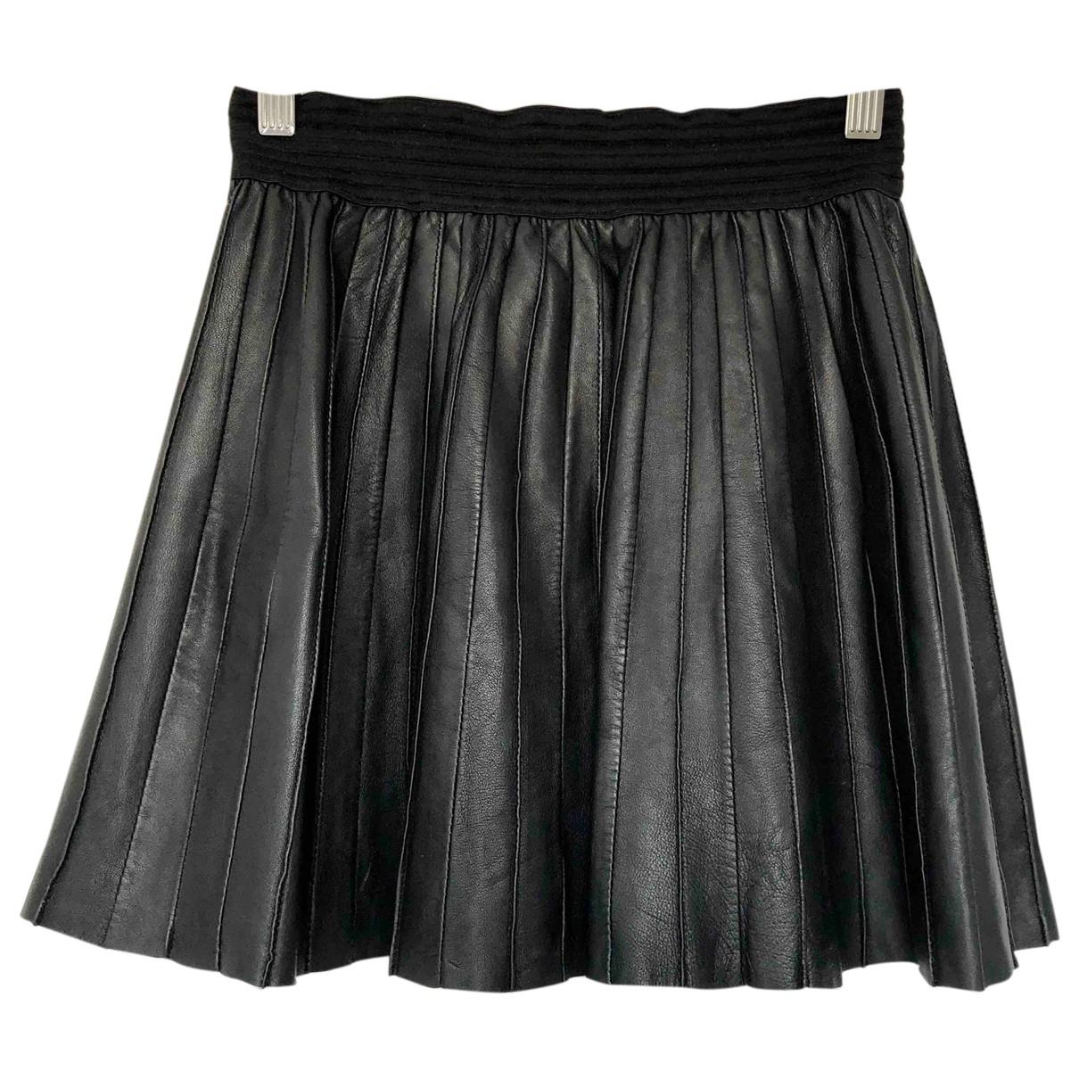Les Petites \N Black Leather skirt for Women 38 FR