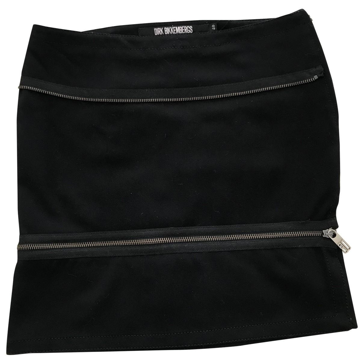 Dirk Bikkembergs - Jupe   pour femme en coton - elasthane - noir