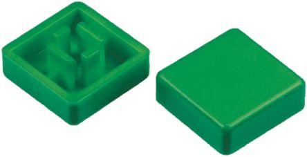 APEM Grn sq cap for keyboard switch,12x12mm (10)