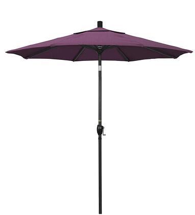 GSPT758302-57002 7.5' Pacific Trail Series Patio Umbrella With Stone Black Aluminum Pole Aluminum Ribs Push Button Tilt Crank Lift With Sunbrella 2A