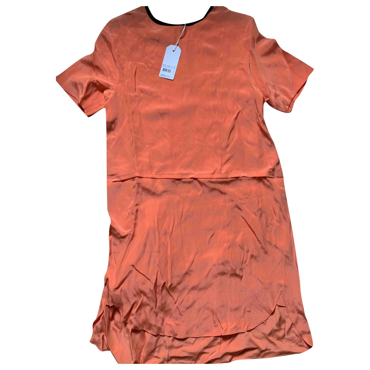 Cedric Charlier \N Kleid in  Orange Synthetik
