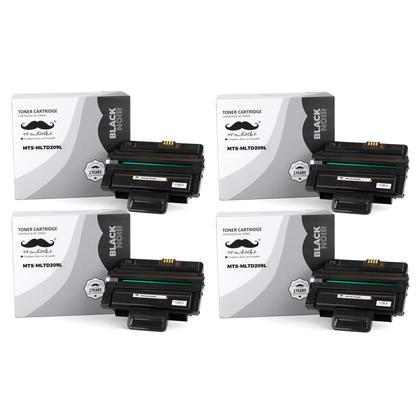 Compatible Samsung MLT-D209L Black Toner Cartridge High Yield - Moustache - 4/Pack