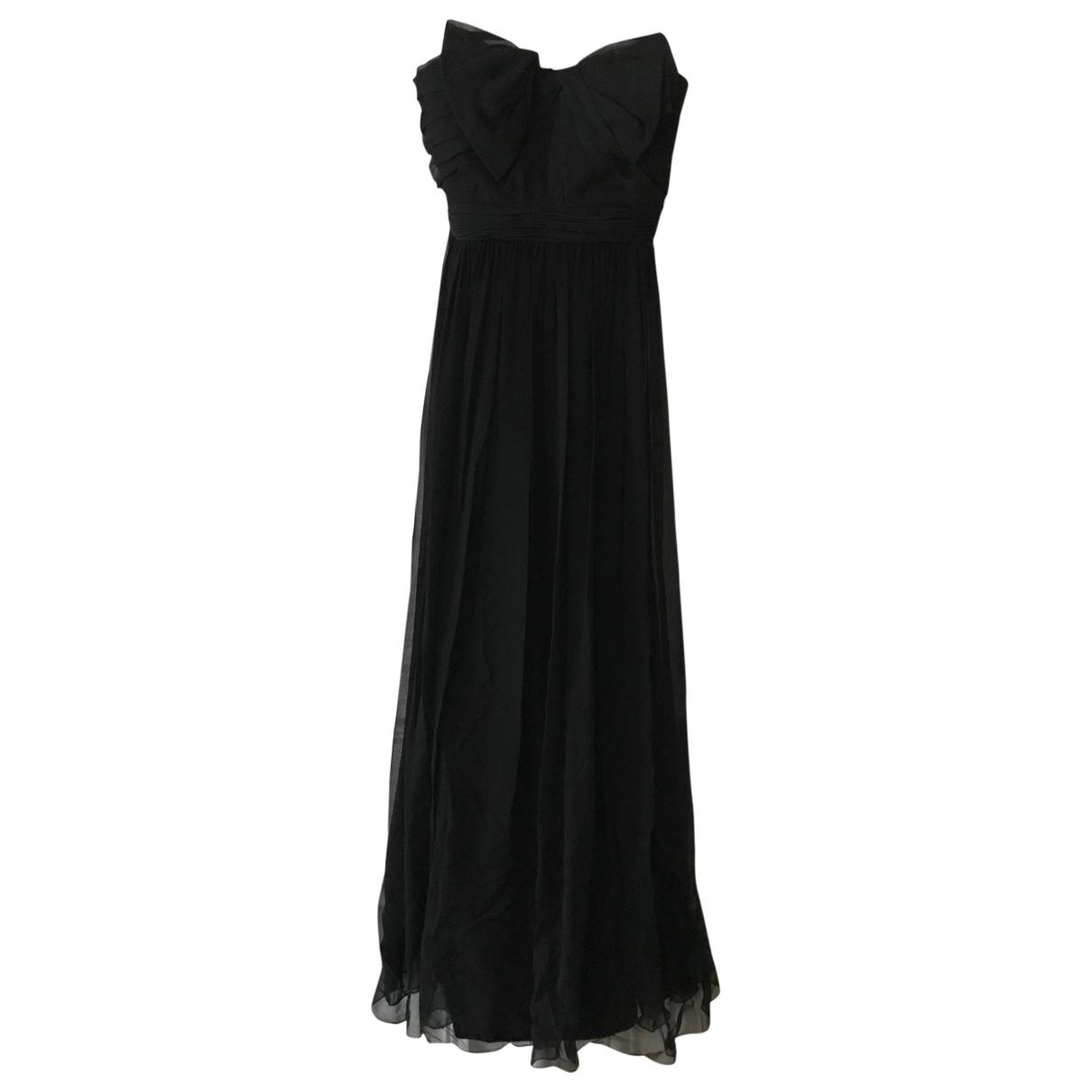 Marchesa Notte \N Kleid in  Schwarz Seide