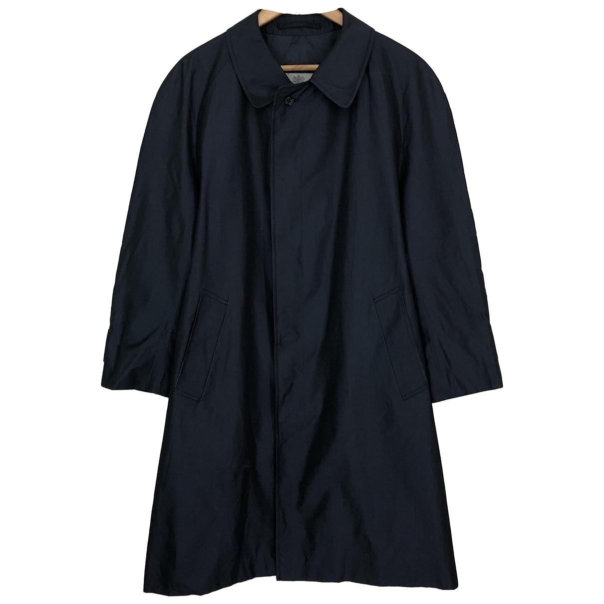 Aquascutum \N Black Cotton coat  for Men L International
