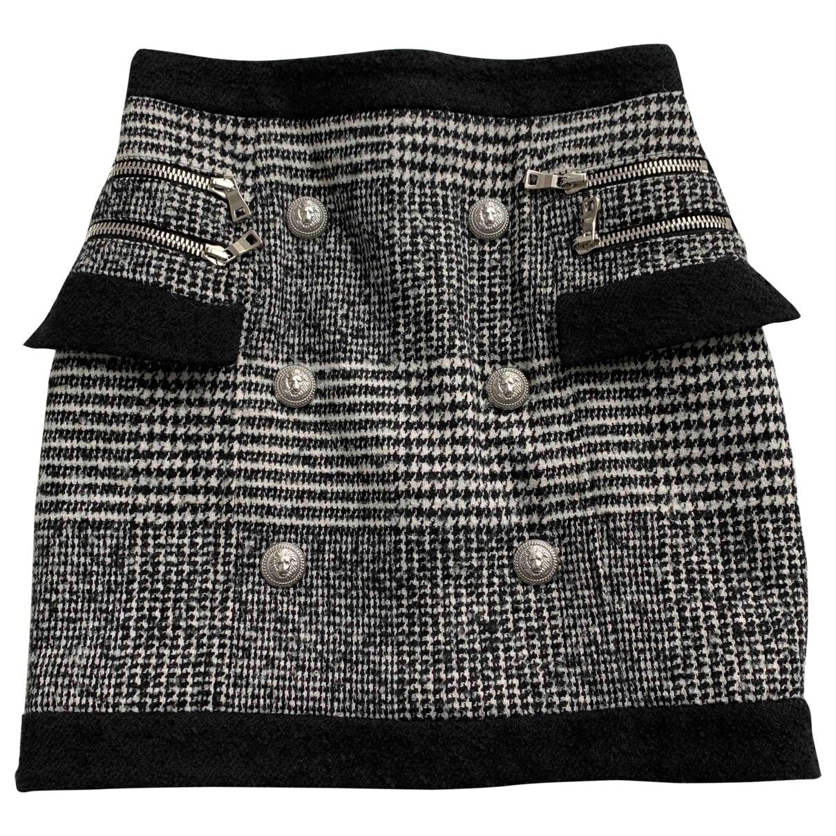 Balmain \N Multicolour Wool skirt for Women 38 FR