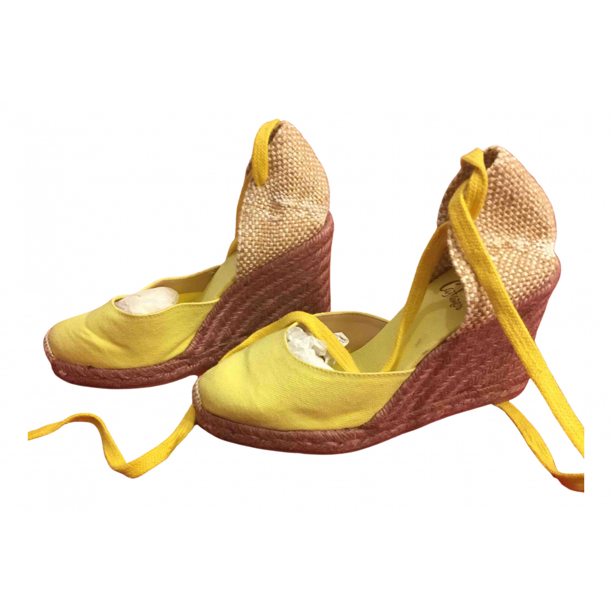 Castaner N Yellow Cloth Espadrilles for Women 36 EU