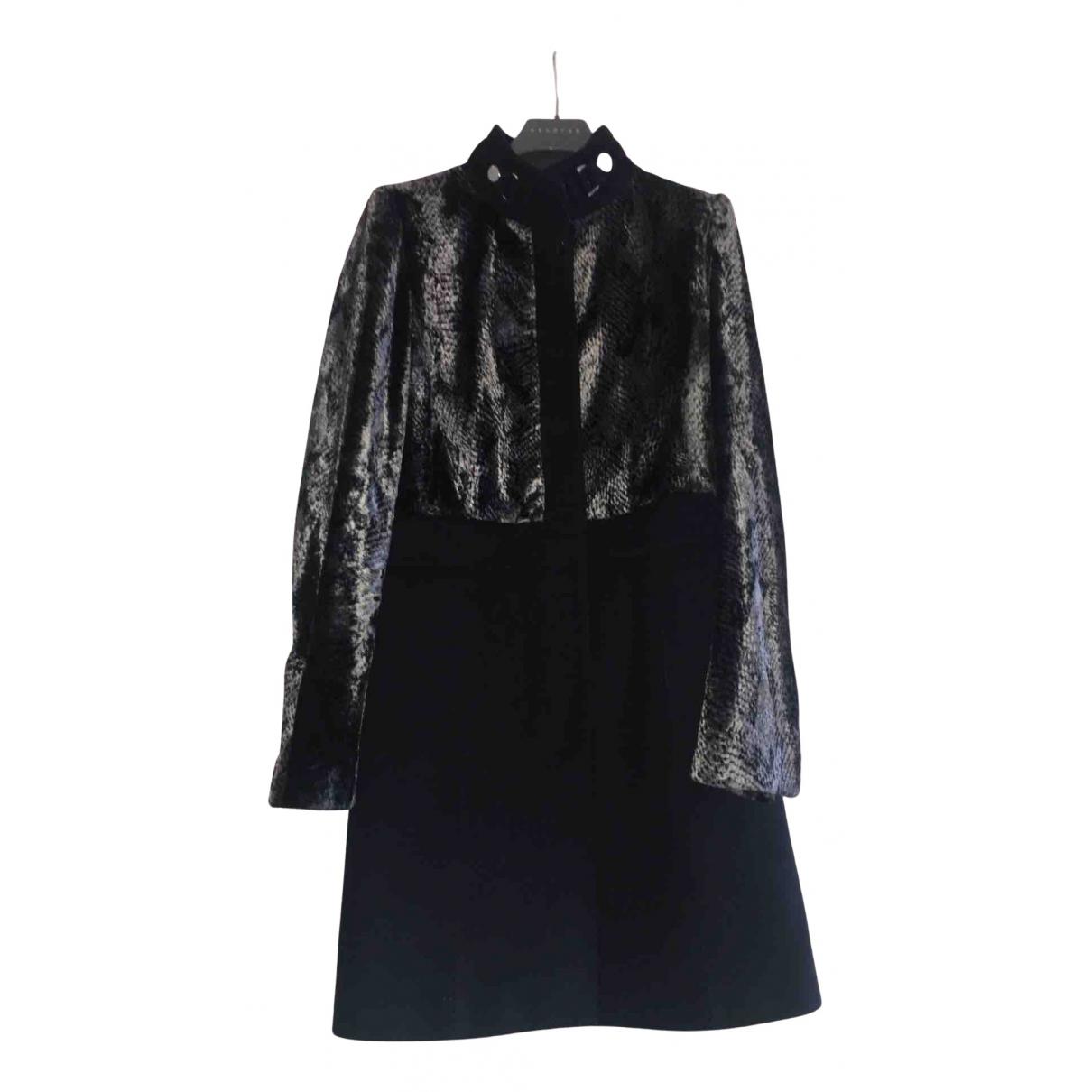 Karen Millen N Black Wool coat for Women 12 UK