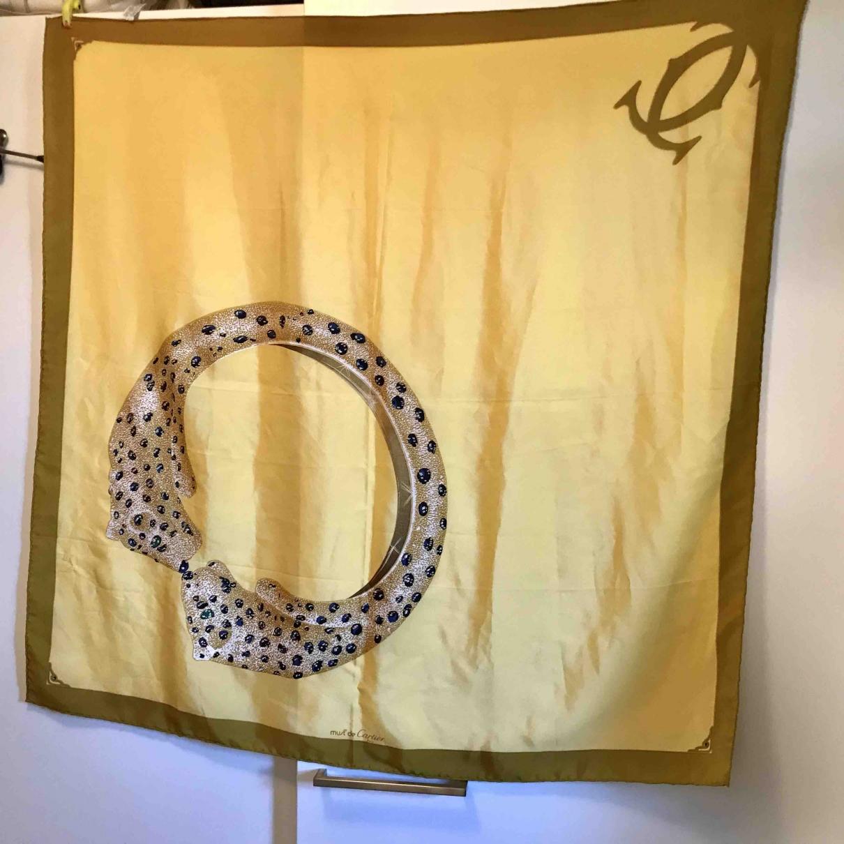 Cartier - Carre   pour femme en soie - jaune