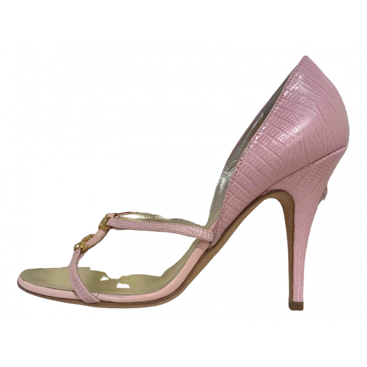 Escada \N Pink Leather Heels for Women 39 EU